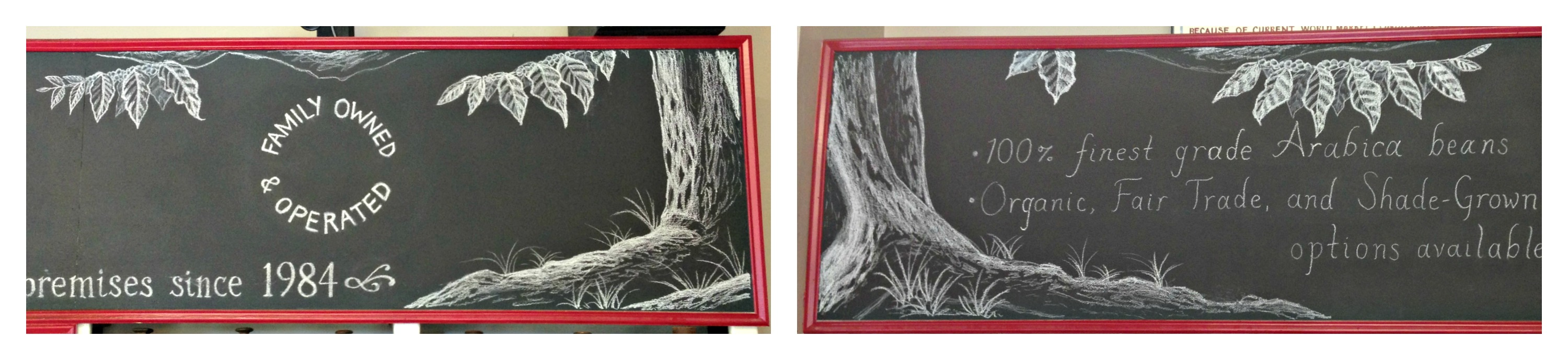 Coffee Tree Chalkboard